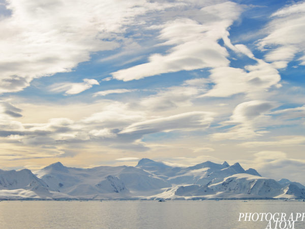 There were two angels flying in the Antarctic sky.